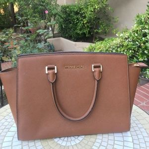 Michael Kors Brown Leather Handbag